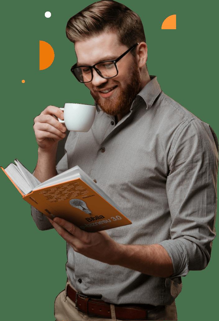 Biblia e -biznesu 3.0 - mężczyzna zksiążka